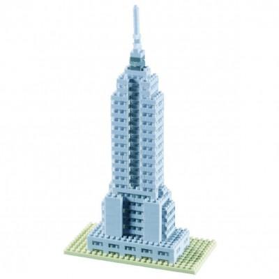 Brixies-58247 Nano 3D Puzzle - Empire State Building (Level 3)