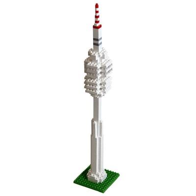 Brixies-58253 Nano 3D Puzzle - Olympiaturm (Level 3)