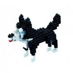 Brixies-58426 3D Nano Puzzle - Husky