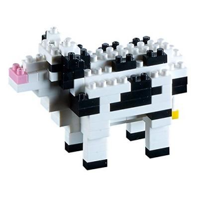 Brixies-58430 3D Nano Puzzle - Kuh