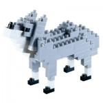 Brixies-58433 3D Nano Puzzle - Wolf