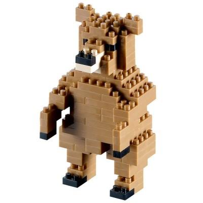 Brixies-58435 3D Nano Puzzle - Bär