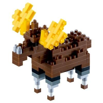 Brixies-58453 3D Nano Puzzle - Elch
