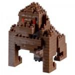 Brixies-58458 3D Nano Puzzle - Gorilla