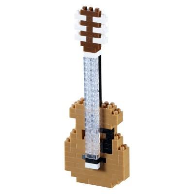 Brixies-58621 Nano 3D Puzzle - Gitarre (Level 2)