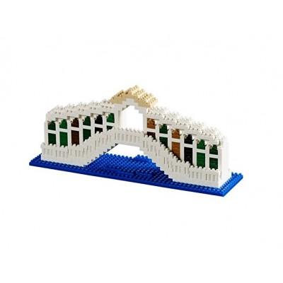 Brixies-58649 Nano 3D Puzzle - Ponte di Rialto (Level 3)