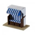 Brixies-58656 Nano 3D Puzzle - Strandkorb (Level 3)
