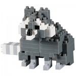 Brixies-58660 3D Nano Puzzle - Waschbär