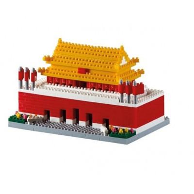 Brixies-58785 Nano 3D Puzzle - Tiananmen Square (Level 4)