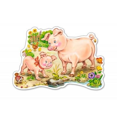 Puzzle  Castorland-015016 Das Ferkel und seine Mama