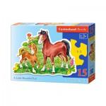 Puzzle  Castorland-015023 Das kleine Fohlen