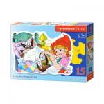 Puzzle  Castorland-015030 Rotkäppchen
