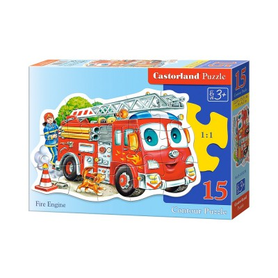Puzzle  Castorland-015078 Feuerwehrauto