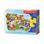 Puzzle  Castorland-015085 Schneewittchen und die sieben Zwerge