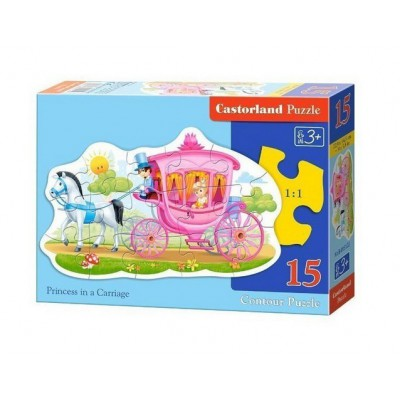 Puzzle  Castorland-015122 Die Prinzessin in der Kutsche