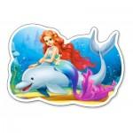 Puzzle  Castorland-015160 Die kleine Meerjungfrau