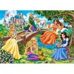 Puzzle  Castorland-018383 Prinzessinnen im Garten