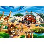 Puzzle  Castorland-018390 Safari-Abenteuer