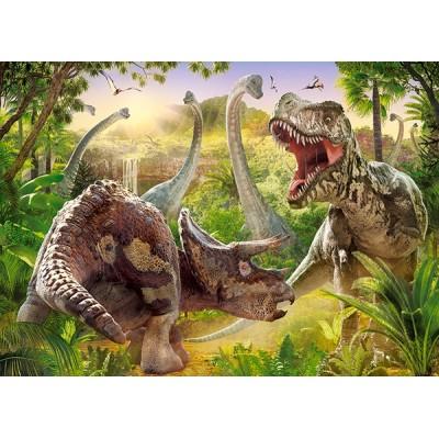 Puzzle  Castorland-018413 Dinosaurier