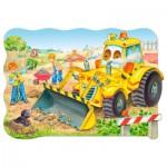 Castorland-02139 Maxi-Puzzle: Bulldozer im Einsatz