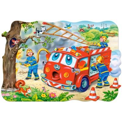 Castorland-02146 Maxi-Puzzle: Feuerwehrleute