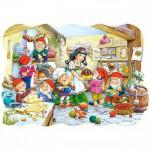 Puzzle  Castorland-02207 Schneewittchen und die 7 Zwerge