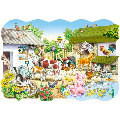 Puzzle  Castorland-02214 Bauernhof