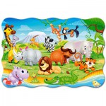 Puzzle  Castorland-02276 XXL Teile - Tiere Afrikas