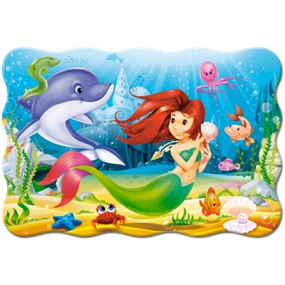 Puzzle  Castorland-02290 XXL Teile - Little Mermaid