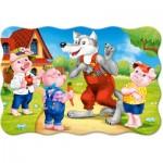 Puzzle  Castorland-02399 XXL Teile - Die 3 kleinen Schweine