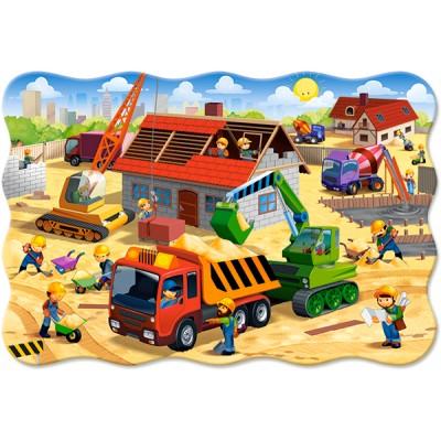 Puzzle  Castorland-02412 XXL Teile - Haus im Bau