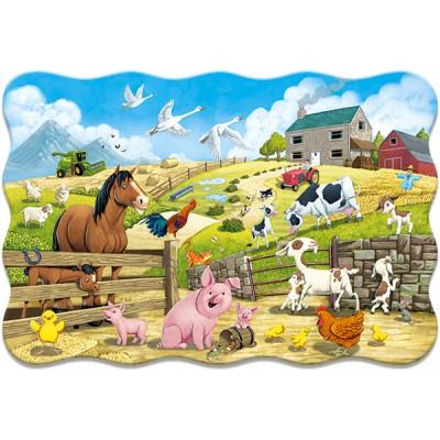 Puzzle  Castorland-02429 XXL Teile - Nutztiere