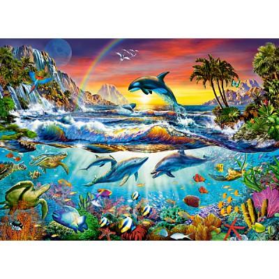 Puzzle  Castorland-030101 Paradiesische Bucht