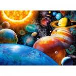 Puzzle  Castorland-030262 Planeten und Monde