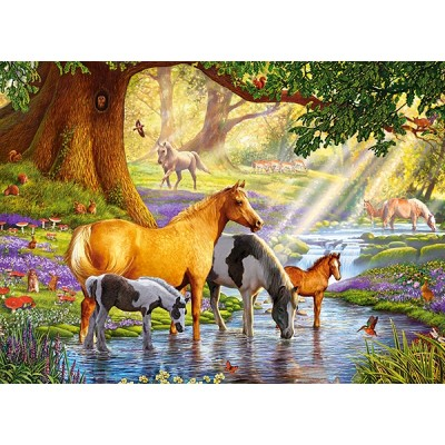 Puzzle  Castorland-030286 Horses by the Stream