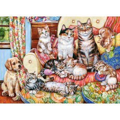 Puzzle  Castorland-030439 Cat Family