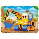 Puzzle  Castorland-03464 Gelber Bagger