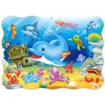 Puzzle  Castorland-03501 Freunde unter Wasser