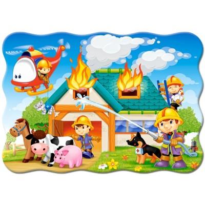 Puzzle  Castorland-03525 Fire Brigade in Action