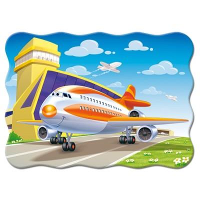 Puzzle  Castorland-03587 Flugzeug