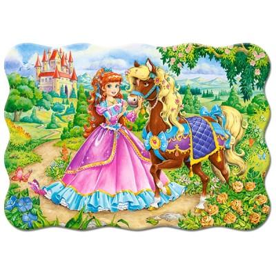 Puzzle  Castorland-03617 Das Pferd der Prinzessin