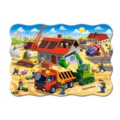 Puzzle  Castorland-03686 Haus im Bau