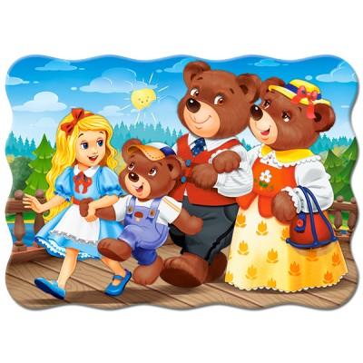 Puzzle  Castorland-03716 Goldlöckchen und die drei Bären