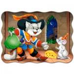Puzzle  Castorland-03730 Der gestiefelte Kater