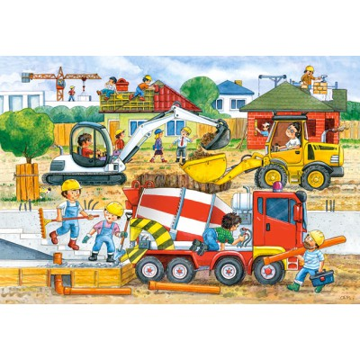 Castorland-040018 Maxi Puzzle - Baustelle