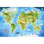 Castorland-040117 Extragroße Puzzleteile - Weltkarte