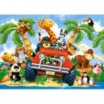 Castorland-040131 Minipuzzle - Stubenhocker auf Safari