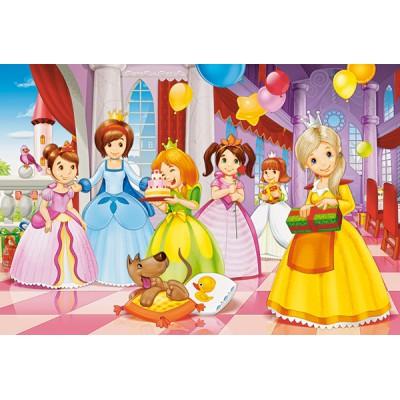 Castorland-040162 Minipuzzle - Feiernde Prinzessinnen