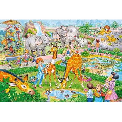 Puzzle  Castorland-040179 XXL Teile - Zoo