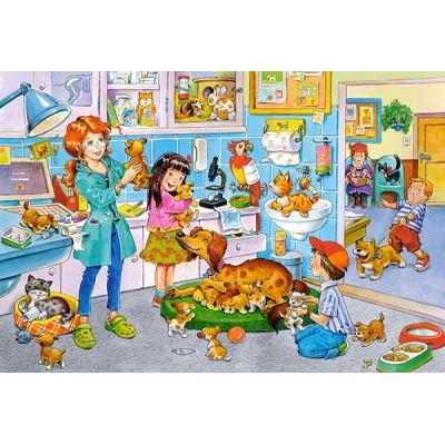 Puzzle  Castorland-040186 XXL Teile - Beim Tierarzt